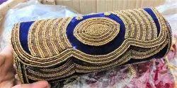 Metal Folding Jaipuri Handmade Bag, Size: 15x5 Inch