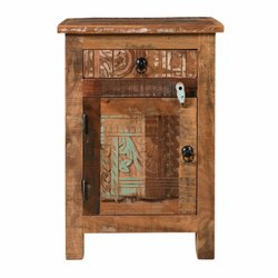 Brown Rajtai Wooden Antique Design Side Reclaimed Wood