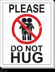 Corona Virus Signage: Please Do Not Hug