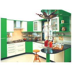 Plywood L Shaped Modular Kitchen