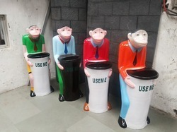 Chimpanzee Shaped Dustbin