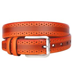 Genuine Leather Formal Casual Profile Belt For Men