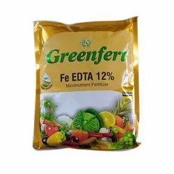 Greenfert Crystalline Powder Fe EDTA 12% Micronutrient Fertilizer, For Agriculture, Packaging Size: 1 Kg