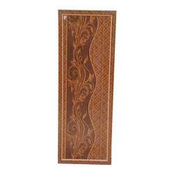Brown Polished PVC Single Panel Doors, For Home, Rectangle