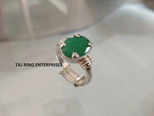 Emerald / Panna Gemstone Ring sold by Taj Ring Enterorises