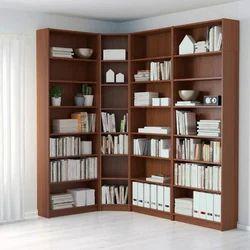 Wooden Brown Book Storage Rack