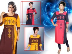 Embroidered Silk Kurti