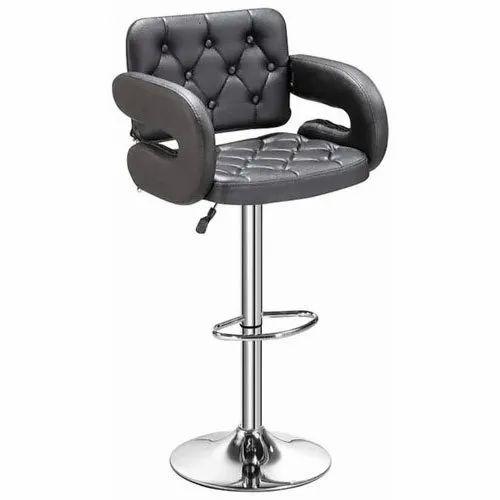 Black Ss Footrest Bar Stool Chair