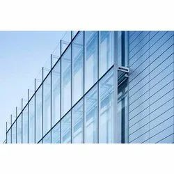 End Cap, Glossy Curtain Wall Structural Glazing Services, for Industrial, Architectural