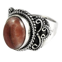 Big Antique Design 925 Sterling Silver Ring