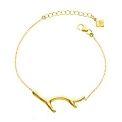 Hand Curve Stylish Micron Gold Plated Handmade Chain Bracelet