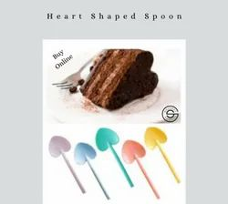 900 Pcs And 3600 Pcs Disposable Plastic PP Spoon Heart Shaped, For Event and Party Supplies, Size: 90 Mm