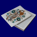 Handmade White Marble Inlay Box