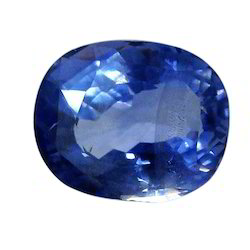 Blue Oval Sapphire Gemstone