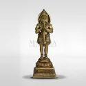 Brown Brass Hanuman Idol