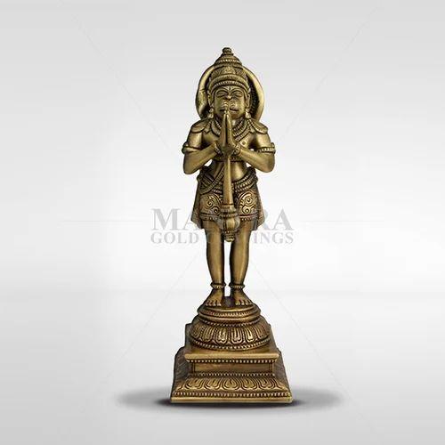 900275c77ff Mantra Brass Gold Plated Hanuman Idol