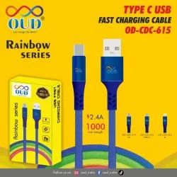 Blue OD CDC 615 Type C USB Charging Cable, Size: 1000mm