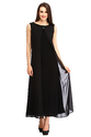 Cottinfab Women's Maxi Blue Dress