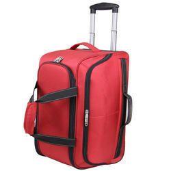 e10f7aa029b2 Red Plain Trolley Bags