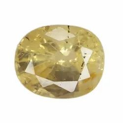 No Heat Yellow Sapphire Oval - Cut