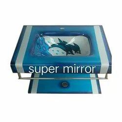 Dolphin Printed Glass Wash Basin