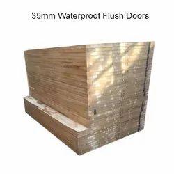 Wood Brown 35mm Waterproof Flush Doors, Features: Termite Resistant, Size/Dimension: 8 X 4 Feet