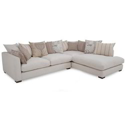 NICEWOOD Wooden White Modern Sofa, For Home, Living Room
