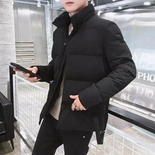 8d4f0bb9 Mens Black Designer Hooded Puffer Jacket