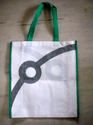Printed Cotton Bag With Dyed Handle