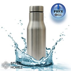 Sports SS Fridge Water Bottle 750 ml Silver Chrome Color - BPA Free, Food Grade Quality