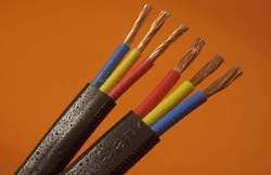 3 Core Round Submersible Power Cable, Size: 2.5 Sqmm
