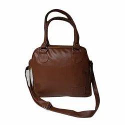 Brown PU Girls Shoulder Purse, for Casual Wear