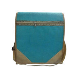 Blue Jute Side Bag