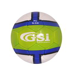 GSI blue and green PU Footballs, Size: 3 and 4
