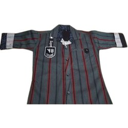 Kids Lines Printed Cotton Shirt