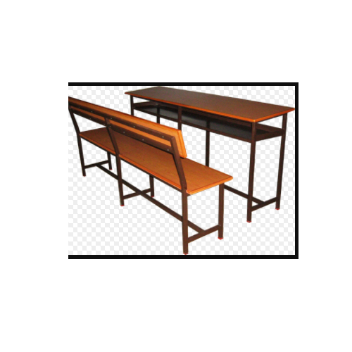 Class Room Furniture - Student Desk- Four Seater Chair