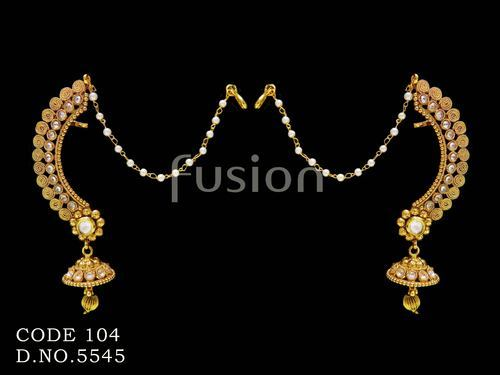 c8474f43a Fusion Traditional Antique Pearl Earrings, Rs 520 /pair | ID: 4025301533