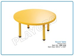 Plastic Play School Round Table
