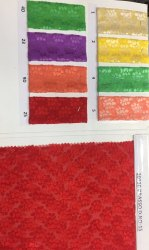 Red Silk Brasso Fabric