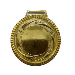 6 Mm Sports Gold Plated Medal