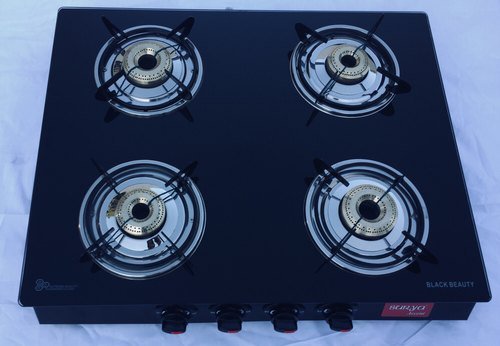 8d923877fca Surya Accent 4 Burner Glass Top Gas Stove at Rs 2400  piece