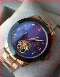 Analog Golden Rolex Automatic Watch