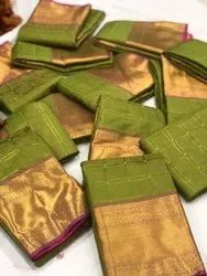 Banarasi Silk With Beautiful Zari  Work And Banarasi Zari Pallu