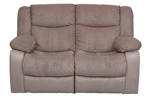 Metro 2 Seater Brown Fabric Recliner