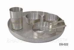 Pure Silver Thali Style Dinner Set