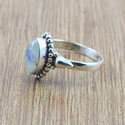UNIQUE 925 STERLING SILVER JEWELRY RAINBOW MOONSTONE RING WR-5026
