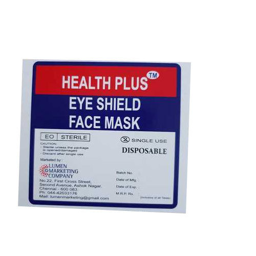 Health Id For Surgical Mask Shield Plus Eye Face Disposable