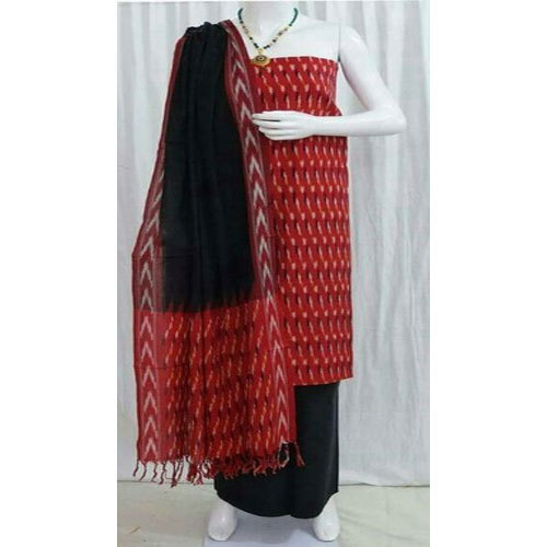 7100f07f5f Red And Black Cotton Ikat Dress Material, Rs 750 /set, Omsai ...