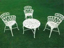 Cast Aluminium Table And Chair