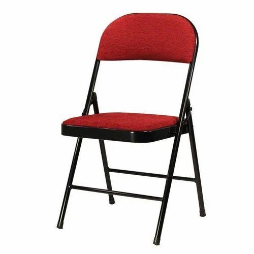 Metal Folding Chair With Cushion